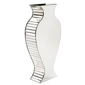 Designer Rounded Mirrored Vase - Tall - MHE4898