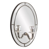 Designer Opal Oval Mirror W/ Candle Holder - MHE5758