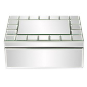 Designer Mirrored Rectangular Jewelry Box - MHE5009