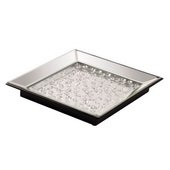 Designer Mirrored Tray With Crystal Accents - MHE5023