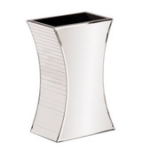 Designer Curved Rectangular Mirrored Vase - Small - MHE4847