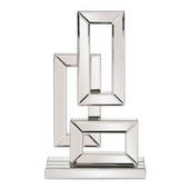 Designer Abstract Geometric Mirrored Sculpture Small - MHE4735