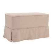 Designer Prairie Linen Natural Universal Bench Cover - Skirted - MHE5898