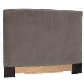 Designer Bella Pewter King Slipcovered Headboard - MHE4424