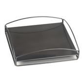 Designer Patio No Tip Block Tray Titanium - MHE5854