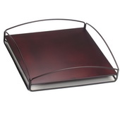 Designer Patio No Tip Block Tray Mahogany - MHE5855