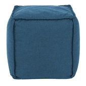 Designer Patio Seascape Turquoise Howard Elliott Patio Square Pouf - MHE5812