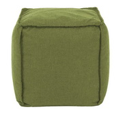 Designer Patio Seascape Moss Howard Elliott Patio Square Pouf - MHE5813
