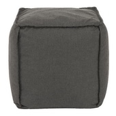 Designer Patio Seascape Charcoal Howard Elliott Patio Square Pouf - MHE5814
