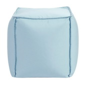 Designer Patio Seascape Breeze Howard Elliott Patio Square Pouf - MHE5815