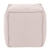 Designer Patio Seascape Sand Howard Elliott Patio Square Pouf - MHE5817