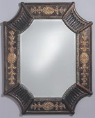 Designer Mirror Antique French Brown - MHE2440