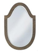 Designer Mirror Mother of Pearl Silver Leaf - MHE2598