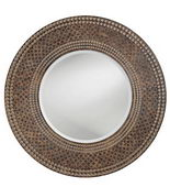 Designer Mirror Antique Faux Maple & Oak - MHE2616