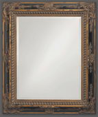 Designer Mirror Mottled Bronze Black Inlay - MHE2858