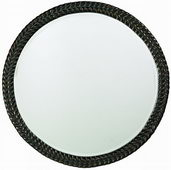 Designer Mirror Antique Black Bronze Highlights - MHE3128
