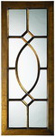 Designer Mirror Aged Bronze Brushed Black Highlights - MHE3224