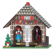 German Weatherhouse with Man and Woman, Tree, and Mushroom - NVC6548