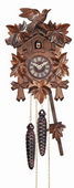 12 Melody Quartz Cuckoo Clock with Five Leaves & Bird - NVC6551