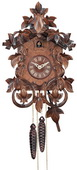 1- Day Hand-carved German Black Forest Cuckoo Clock with Intricate Leaves & Vines - NVC6566