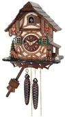 1-Day cuckoo Clock Cottage with Deer, Tree, & Water Pump - NVC6572