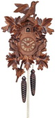 1- Day German Black Forest Cuckoo Clock with Seven Hand-carved Leaves & Three Birds - NVC6575