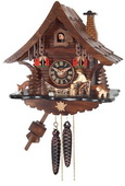 1- Day Cuckoo Clock Cottage with Man Chopping Wood - NVC6581
