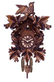 Cuckoo Clock with Seven Hand-carved Maple Leaves and Three Birds - NVC6605