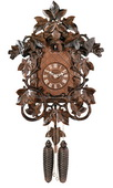 8-Day Cuckoo Clock with Hand-carved Vines and Leaves - NVC6608