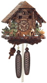 8-Day Cuckoo Clock Cottage - Man Chopping Wood - NVC6611