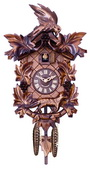 Aesop's Fable Cuckoo Clock with Hand-carved Maple Leaves, Grapes, Bird, and Fox - NVC6620