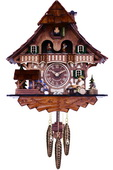 Musical Black Forest Cuckoo Clock with Dancers, Waterwheel, and Beer Drinker - NVC6629