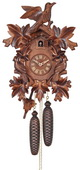 8-Day Cuckoo Clock with Three Hand-carved Birds and Seven Leaves - NVC6632
