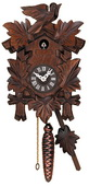 Hand-carved Quarter Call Cuckoo Clock with Five Leaves & One Bird - NVC6644