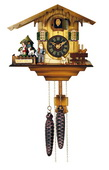 12 Melody Quartz Cuckoo Clock - Heidi's Chalet with Revolving Figures - NVC6647