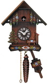 Cottage with Hand-Painted Flowers - Quarter Call Cuckoo Clock - NVC6650