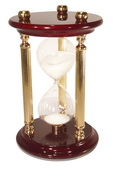 15 Minute Sand Timer with High Gloss Wood & Brass Spindles - NVC6767