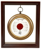 Hanging Galileo Thermometer with Cherry Finished Wood Frame - NVC6782