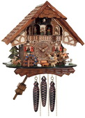 1-Day Musical Cuckoo Clock Cottage with Boy and Girl on Seesaw - NVC6824