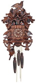 1-Day Musical Cuckoo Clock with Hand carved Birds, Leaves, and Nest - NVC6830
