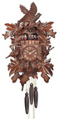 1-Day Musical Cuckoo Clock with Hand-carved Birds, Leaves, and Chicks in Nest - NVC6836