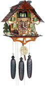 8- Day Musical Cuckoo Clock with Hunter Moving with Binoculars and Waterwheel - NVC6875
