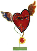 Metal Flying Heart Clock with Pendulum - NVC6899
