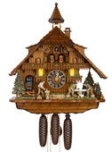 Authentic German Neustadt 23n Moving wood sawyers 8 Day Musical Black Forest Cuckoo Clock - NYC1026