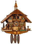 28in German Black Forest Kissing Lovers 8 Day Musical Chalet Cuckoo Clock - NYC1602