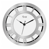 Brierley 8in Nickel Wall Clock - PLR6476