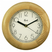 Broughton 8in Natural Wood Wall Clock - PLR6486