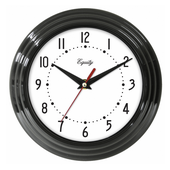 Aqua Pear Chard Analog Wall Clock Black by LCT - PLR6490