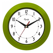 Aqua Pear Charlbury 8in Green Wall Clock by LCT - PLR6492