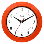 Chagford 8in Orange Wall Clock - PLR6496